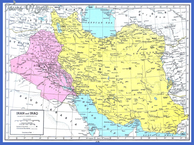 iran iraq map 1949 Iran Map