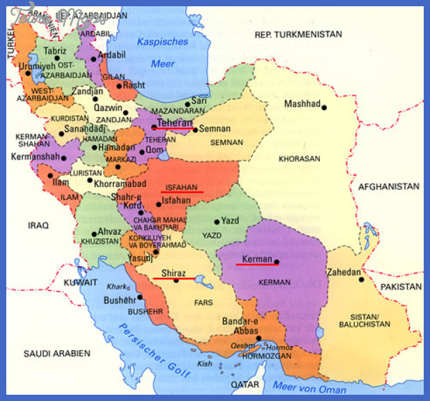 iran map political regional Iran Map
