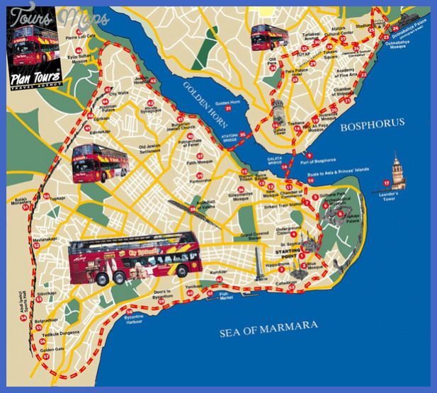 istanbul map tourist attractions  2 Istanbul Map Tourist Attractions