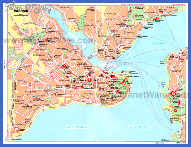 istanbul map tourist attractions  3 Istanbul Map Tourist Attractions