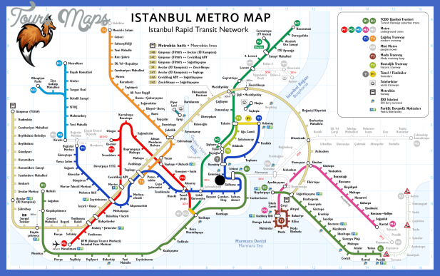 Istanbul Metro Map Toursmaps Com