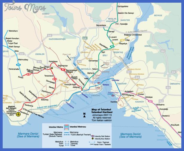 Istanbul Subway Map 2015.Istanbul Subway Map Toursmaps Com