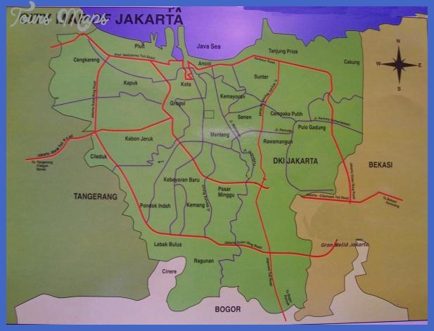 jakarta map 0 Jakarta Map