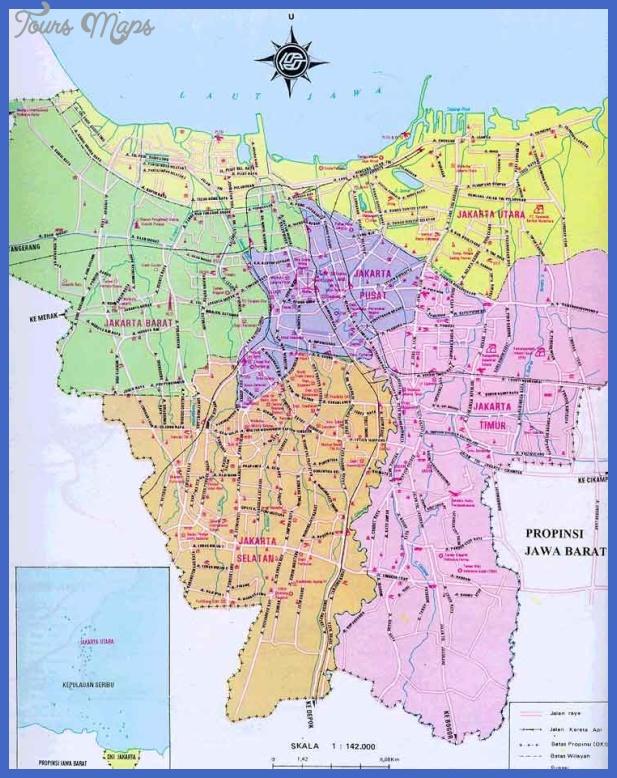 jakarta Jakarta Map