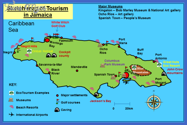 jamaicasketchmap Cuba Map Tourist Attractions