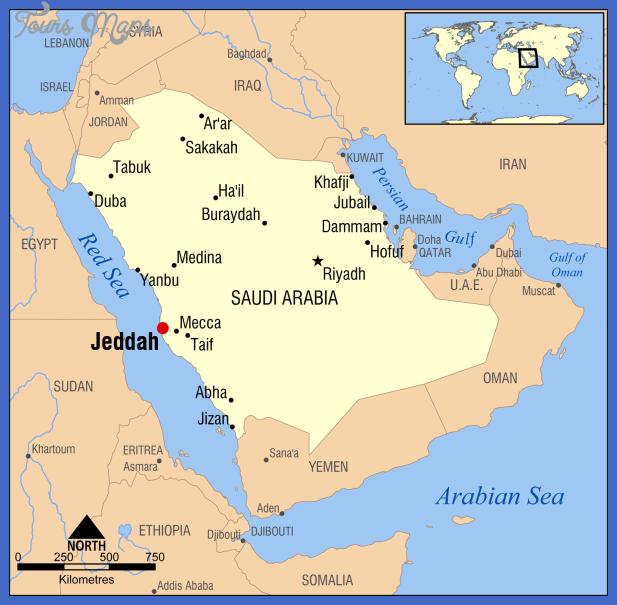 jeddah map  1 Jeddah Map