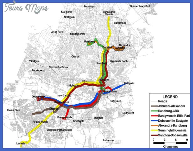 johannesburg brt project map Curitiba Subway Map