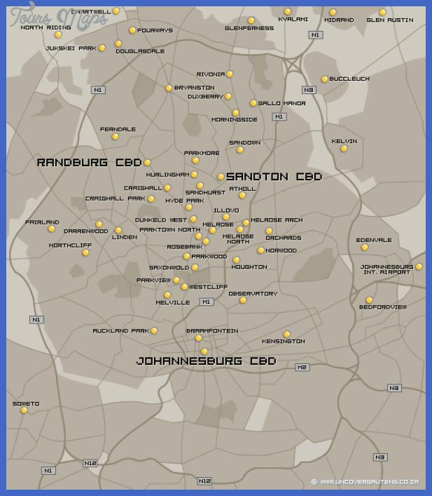 johannesburg map Johannesburg East Rand Map Tourist Attractions