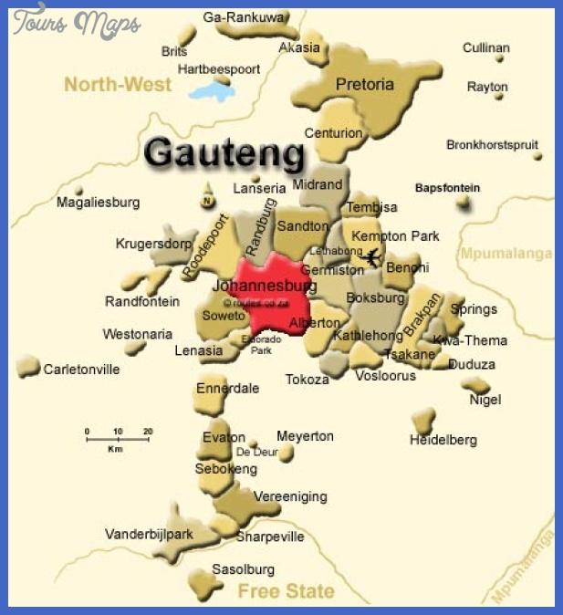 johannesburg Johannesburg East Rand Map Tourist Attractions
