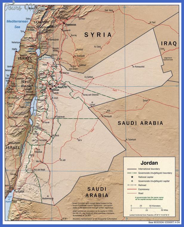 jordan 2004 cia map Jordan Subway Map