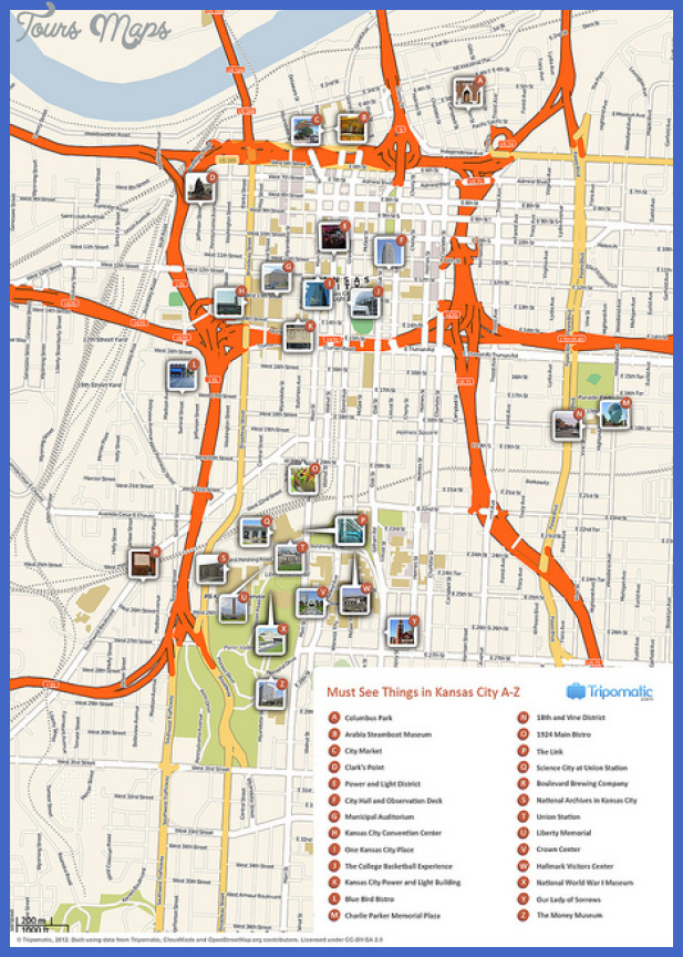 kansas city map tourist attractions  0 Kansas City Map Tourist Attractions