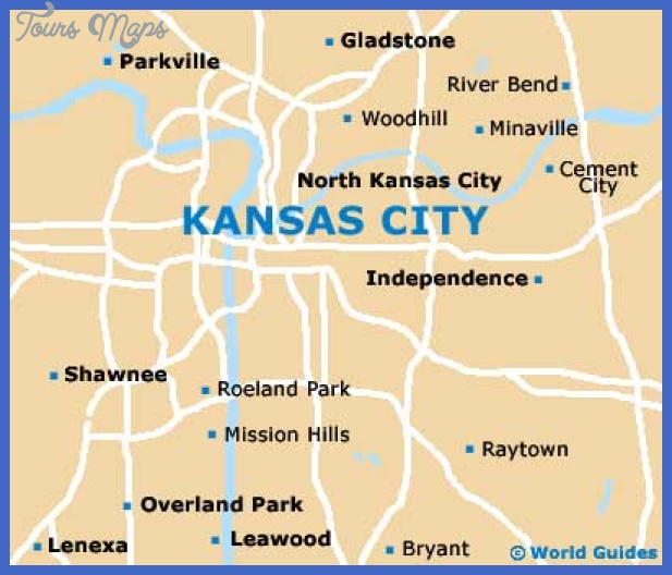 kansas city map Kansas City Map Tourist Attractions