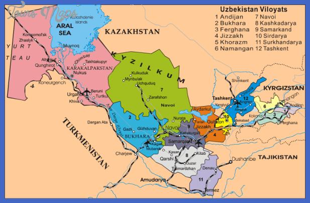 karakalpakstan map Uzbekistan Map