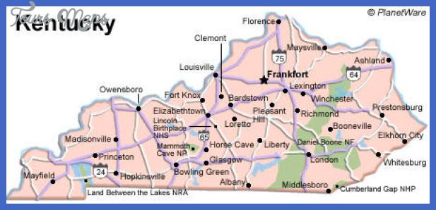kentucky map Loiseville Map Tourist Attractions