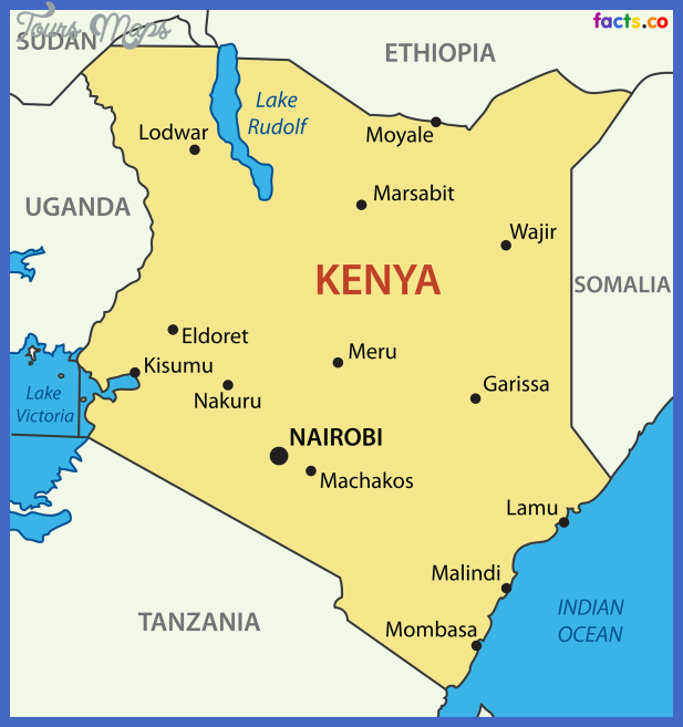 kenyamapwithcities Kenya Map