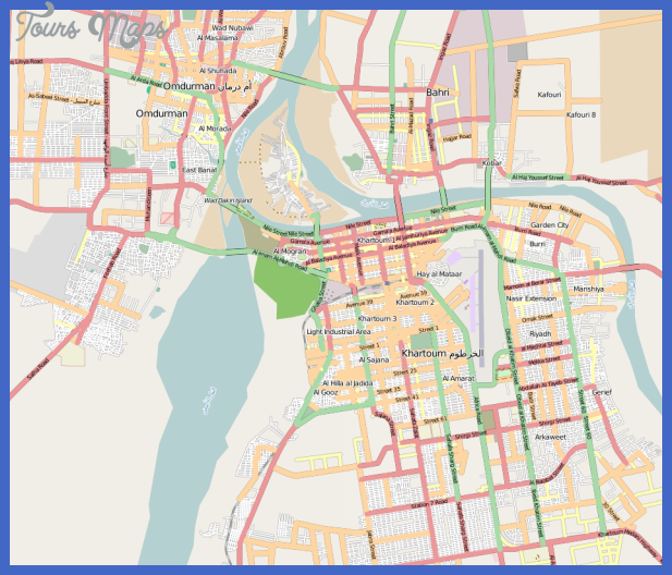 khartoum map tourist attractions 1 Khartoum Map Tourist Attractions