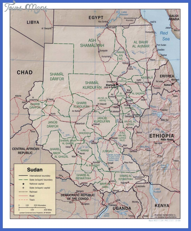 khartoum map tourist attractions 2 Khartoum Map Tourist Attractions