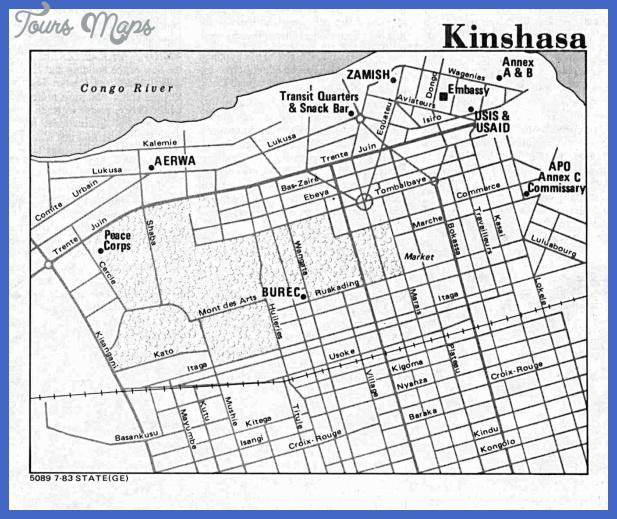 kinshasa map 7 Kinshasa Map