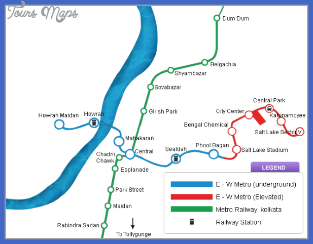Kolkata Metro Map | 101 Travel Maps
