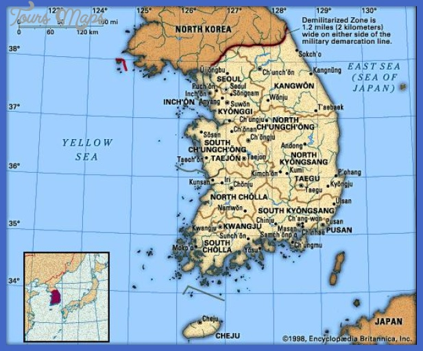 korea map Seoul Map