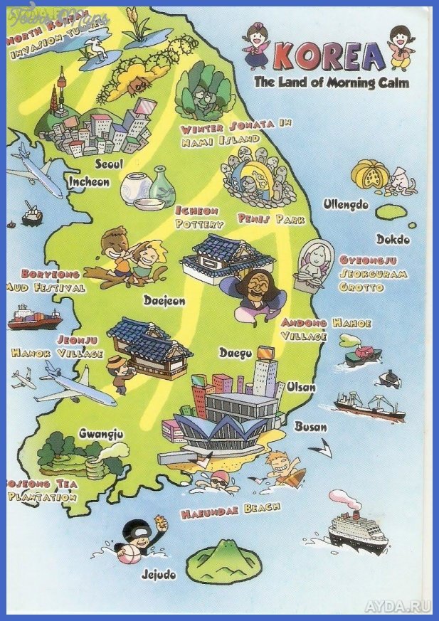 korea south map tourist attractions 3 Korea, South Map Tourist Attractions