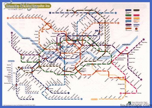 Korea South Subway Map Toursmaps Com