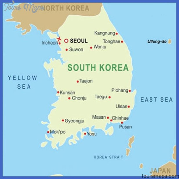 korea map Korea, South Map Tourist Attractions