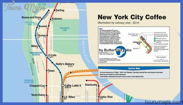 Subway Map of All the Best Coffee Shops In NYC