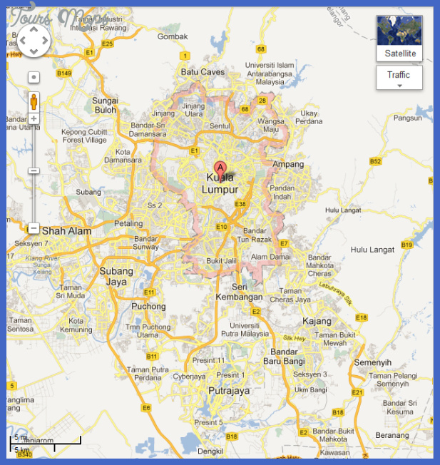 Kuala Lumpur Map ToursMapscom - kuala lumpur map
