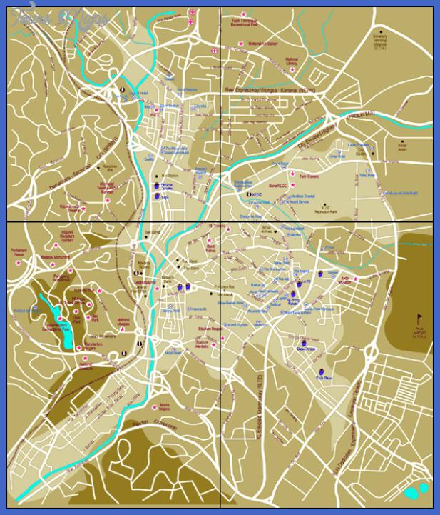kuala lumpur map  10 Kuala Lumpur Map