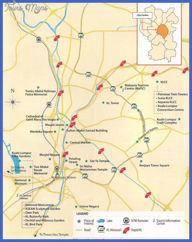 kuala lumpur map Kuala Lumpur Map