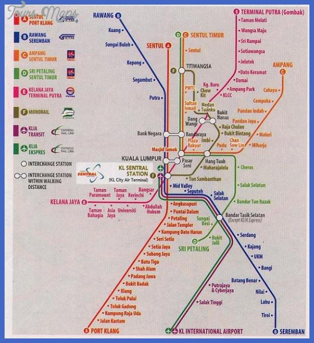 Kuala Lumpur Malaysia Map: Kuala Lumpur Subway Map