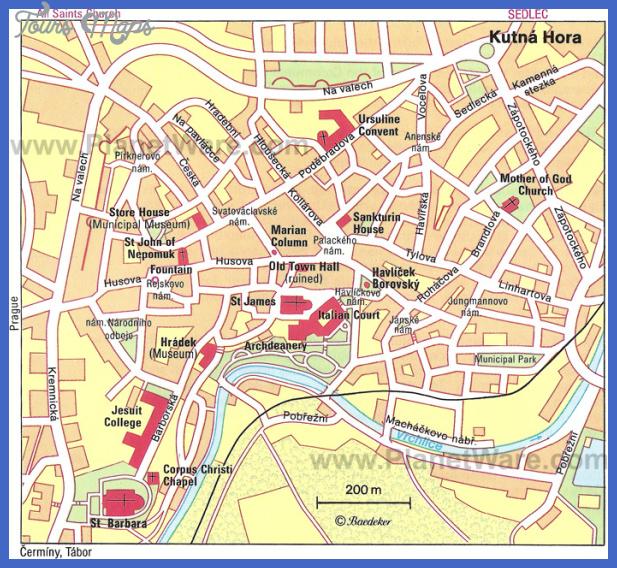 kutna hora map Czech Republic Map Tourist Attractions