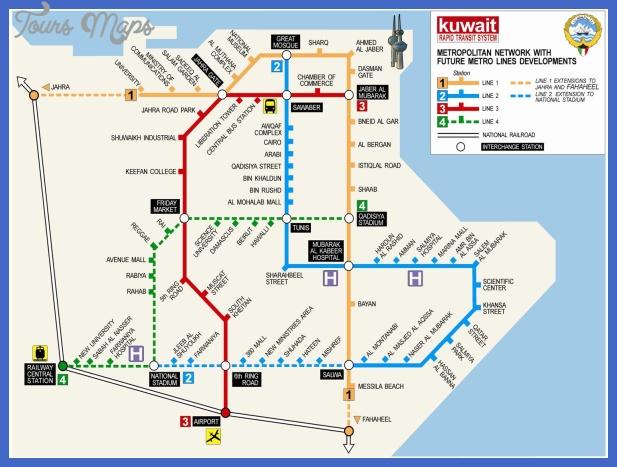 kuwait city metro map 1 Riyadh Map Tourist Attractions