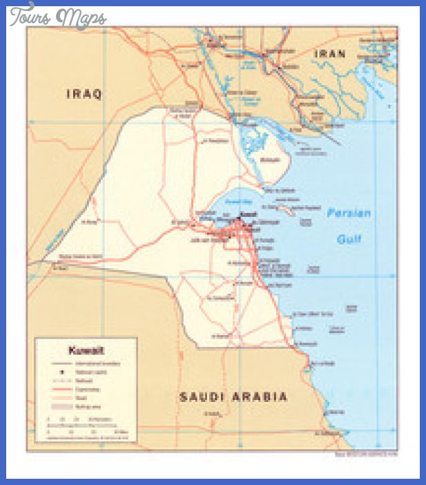 kuwait map thumb Kuwait Map Tourist Attractions