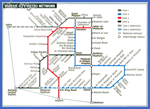 kuwait subway map 1 Kuwait Subway Map