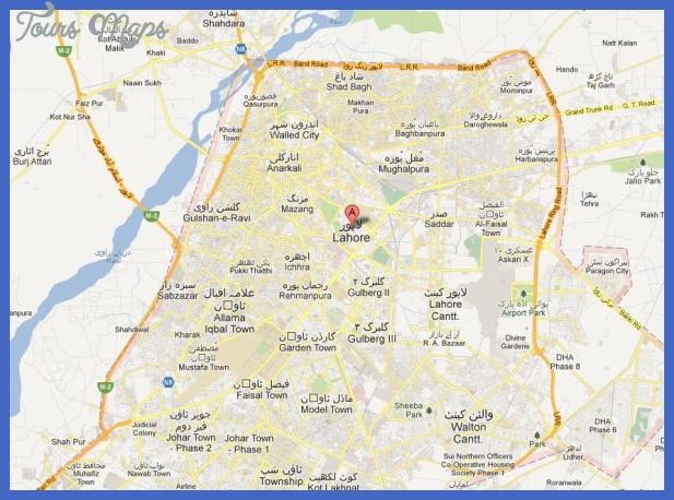 lahore map tourist attractions  1 Lahore Map Tourist Attractions