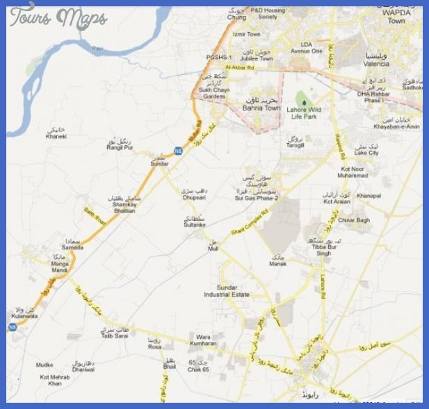 lahore metro map 1 Lahore Metro Map