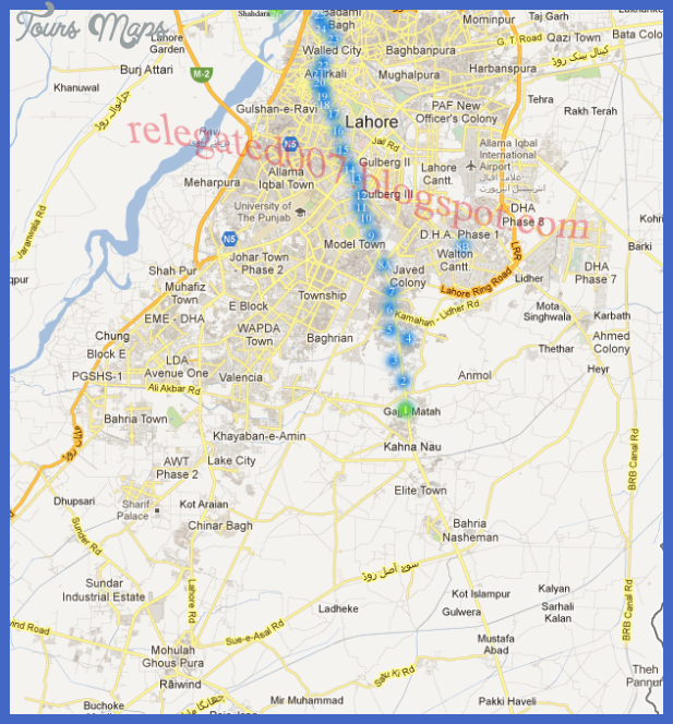 lahore metro map Karachi Metro Map