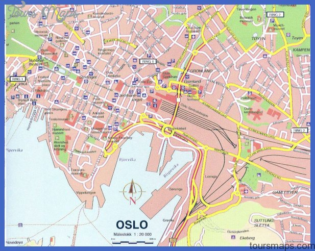 large detailed map of oslo city center 1 Urban Honolulu Subway Map