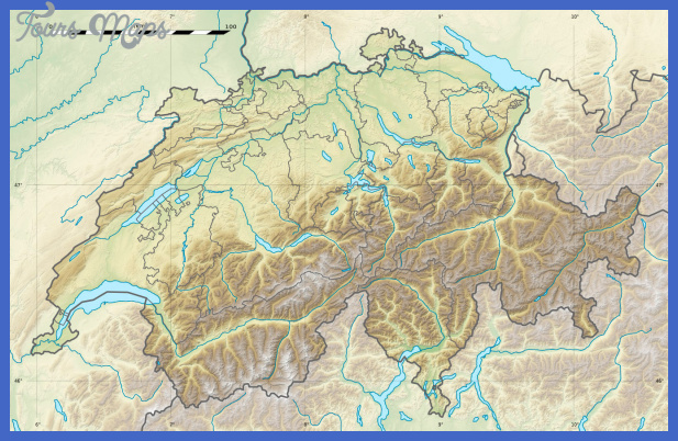 large detailed relief map of switzerland Switzerland Map