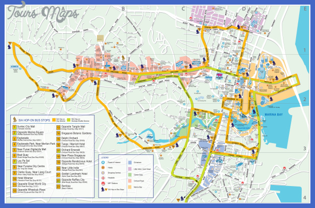 large detailed road map of singapore city Recife Map Tourist Attractions