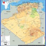 large physical and road map of algeria 150x150 Algeria Map