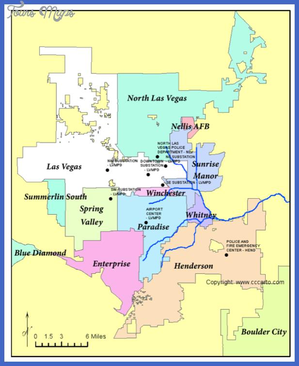 las vegas metro map  6 Las Vegas Metro Map
