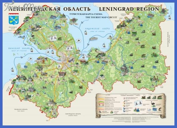 leningrad region tourist circuit map mediumthumb St Petersburg Map Tourist Attractions