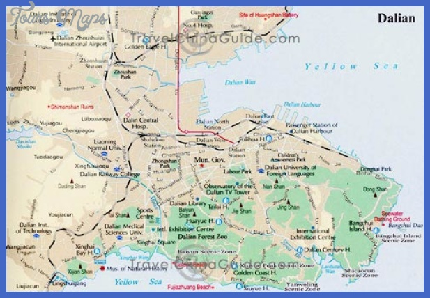 liaoning dalian s Dalian Map Tourist Attractions