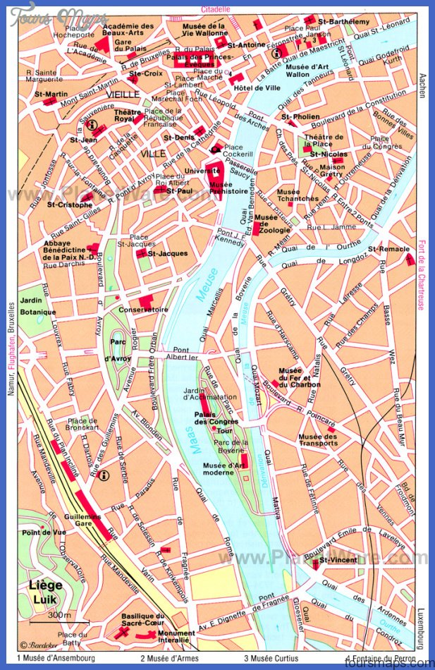 liege map St. Paul Map Tourist Attractions