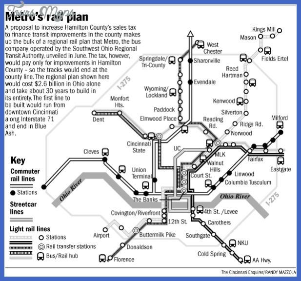 lightrail7 Cincinnati Subway Map