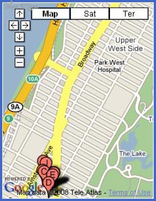 Upper West Side Subway Map.Lincoln Subway Map Toursmaps Com