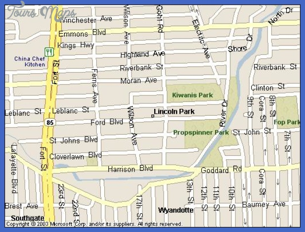 lincoln park map Lincoln Metro Map
